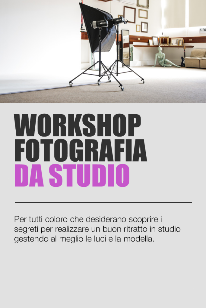 workshop di fotografia da studio